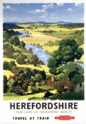 Herefordshire. British Railways Vintage Travel poster by AJ Wilson.